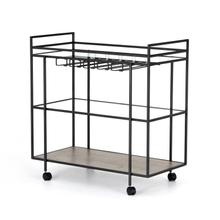 Byron Bar Cart-grey Wash