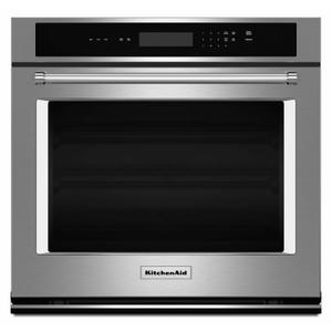 """KitchenAid30"""" Single Wall Oven with Even-Heat™ Thermal Bake/Broil - Stainless Steel"""