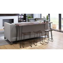 Nature's Edge Slate Sofa Counter Dining Table W/ 3 Backless Stools