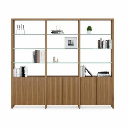 BDI Furniture - Linea Shelves 5802A Double Shelf Extension in Natural Walnut
