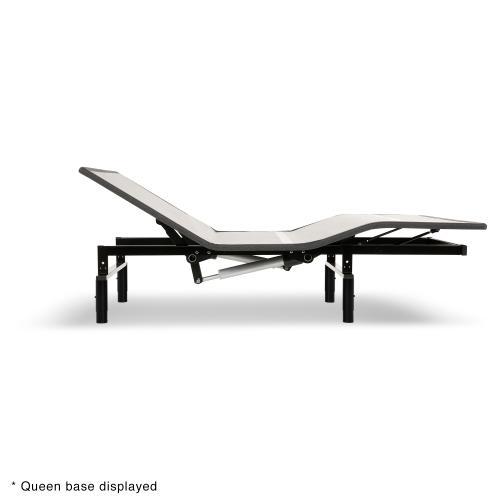 Leggett and Platt - Sunrise 2 Slim-Profile Adjustable Bed Base for Platform Beds with Adjustable Legs, Charcoal Gray, Split California King