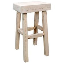 Homestead Collection Half Log Barstool