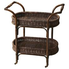 See Details - This rattan serving cart has a stylish and functional design that makes it a wonderful addition to any home. The perfect complement to your dining room, this serving cart is made from rattan featuring two woven baskets , this serving cart has a neat and attractive appearance that is perfect for blending in with both, modern and contemporary decor. It sports an oval shape and a simple design which makes it an excellent accessory when serving tea, drinks and snacks.