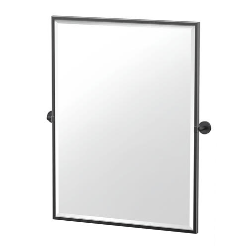 Sky Framed Rectangle Mirror in Matte Black