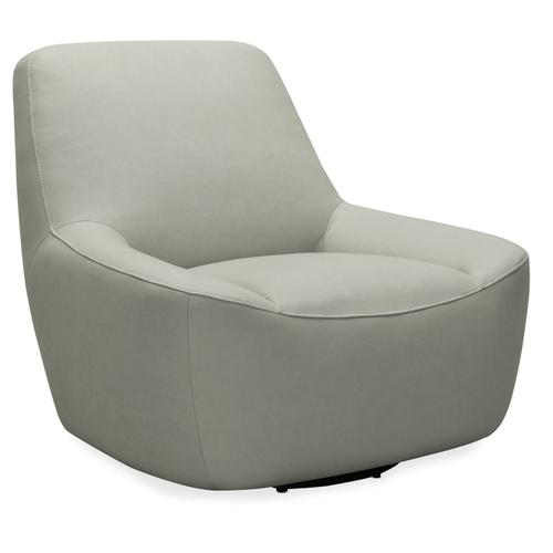 Living Room Maneuver Leather Swivel Chair