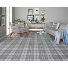 Elegance Plaid Chic Pldch Steel Broadloom Carpet