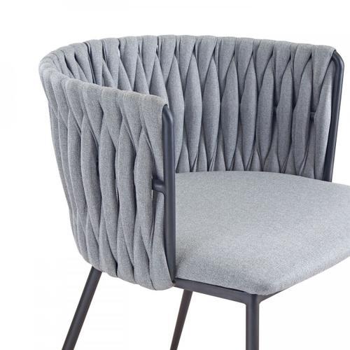 VIG Furniture - Modrest Janis - Contemporary Light Grey & Black Dining Chair