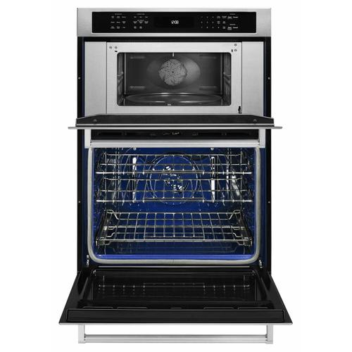"""KitchenAid - 30"""" Combination Wall Oven with Even-Heat™ True Convection (Lower Oven) - Stainless Steel"""