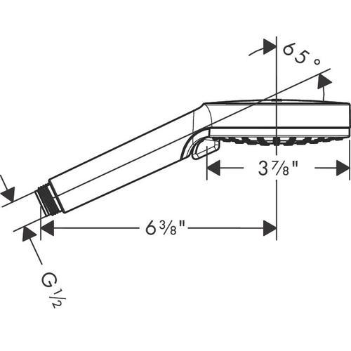 Brushed Nickel Handshower Vario-Jet, 1.75 GPM