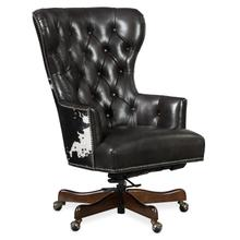 See Details - Katherine Executive Swivel Tilt Chair w/ Black & White HOH