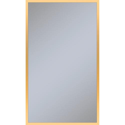 """Profiles 23-1/4"""" X 39-3/8"""" X 4"""" Framed Cabinet In Matte Gold With Electrical Outlet, Usb Charging Ports, Magnetic Storage Strip and Right Hinge"""