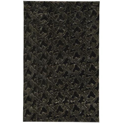 Luxe Shag Artic Black Machine Woven Rugs