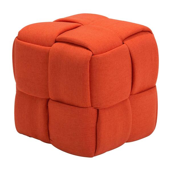 See Details - Checks Stool Orange