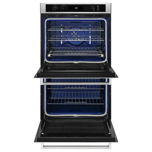 """KitchenAid - 30"""" Double Wall Oven with Even-Heat™ True Convection (Upper Oven) - Stainless Steel"""