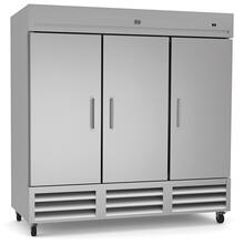 See Details - Refrigeration Equipment Reach-In Refrigerator, 3 Door, 72 cu.ft - Stainless Steel (R290)