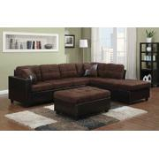 Mallory Casual Chocolate Sectional Product Image