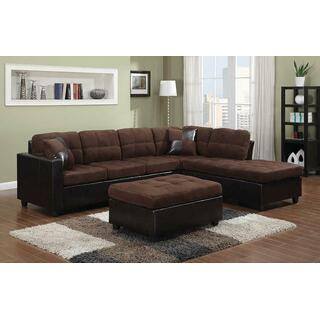 See Details - Mallory Casual Chocolate Sectional