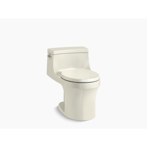 Biscuit One-piece Round-front 1.28 Gpf Toilet With Slow Close Seat