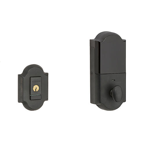 Distressed Oil-Rubbed Bronze Evolved Arched Deadbolt