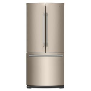 Whirlpool30-inch Wide Contemporary Handle French Door Refrigerator - 20 cu. ft. Fingerprint Resistant Sunset Bronze