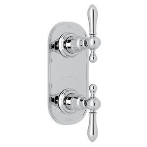 "Polished Chrome Arcana 1/2"" Thermostatic/Diverter Control Trim with Arcana Series Only Classic Metal Lever Product Image"