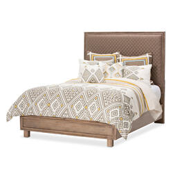 Cal King Panel Bed Autumn Bronze (3 Pc)