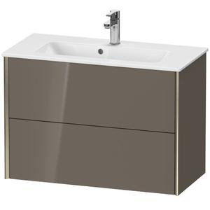 Duravit - Vanity Unit Wall-mounted Compact, Flannel Gray High Gloss (lacquer)