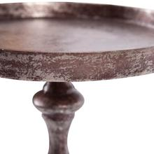 View Product - Aluminum Footed Tray in Antiqued Bronze, Small