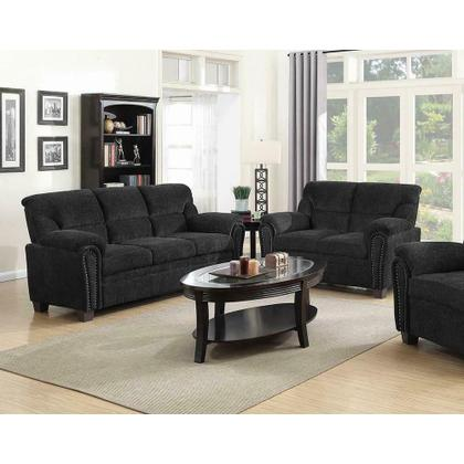 See Details - Clemintine Grey Two-piece Living Room Set