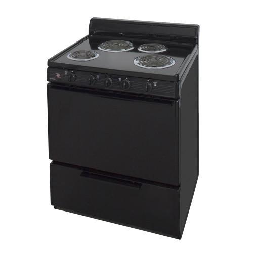Premier - 30 in. Freestanding Electric Range in Black