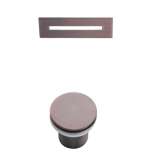 """Marakesh 68"""" Acrylic Slipper Tub with Integral Drain and Overflow - Oil Rubbed Bronze Drain and Overflow"""