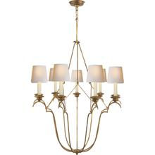 View Product - E. F. Chapman Belvedere 9 Light 33 inch Gilded Iron Chandelier Ceiling Light