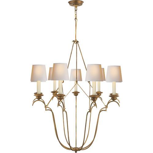 Visual Comfort - E. F. Chapman Belvedere 9 Light 33 inch Gilded Iron Chandelier Ceiling Light