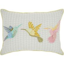 "Plushlines Ch421 Multicolor 14"" X 20"" Throw Pillow"