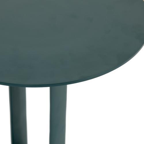 Dark Teal Finish Douglas End Table