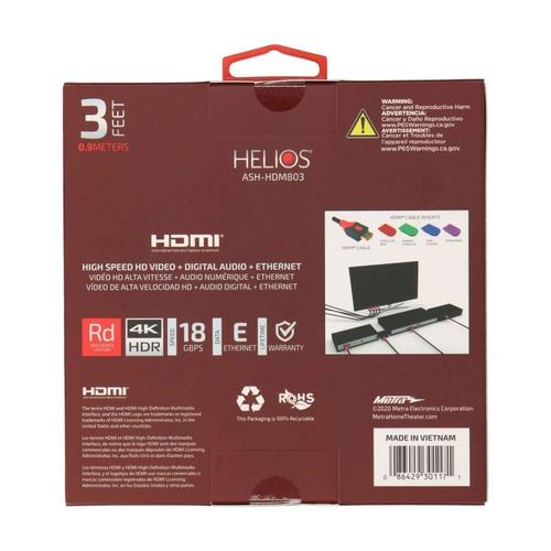 Metra Home Theater - HDMI® High Speed with Ethernet 48 Gbps - 6 Feet