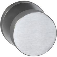 Interior Modern Knob Latchset with Modern Round Rose in (US26D Satin Chrome Plated)