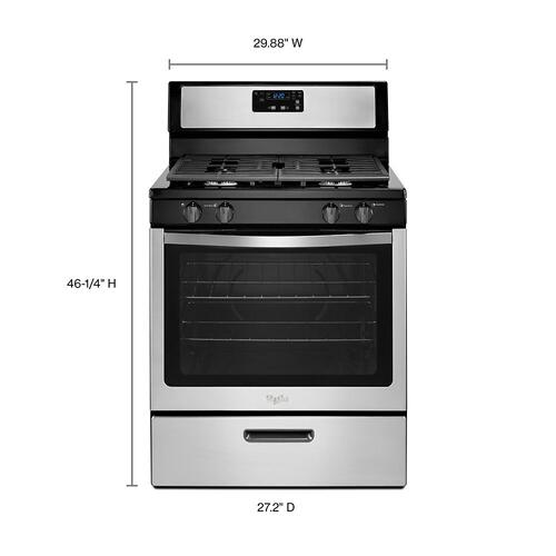 Whirlpool - Whirlpool® 5.1 Cu. Ft. Freestanding 4-Burner Gas Stove