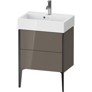 Duravit - Vanity Unit Floorstanding Compact, Flannel Gray High Gloss (lacquer)