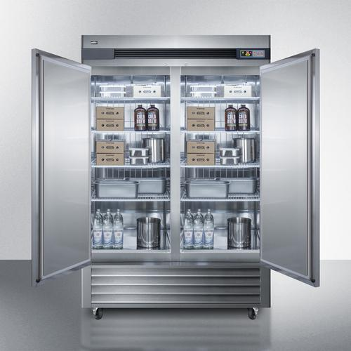 49 CU.FT. Commercial Reach-in Refrigerator In Complete Stainless Steel