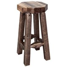 Homestead Collection Backless Barstool, Stain and Lacquer Finish