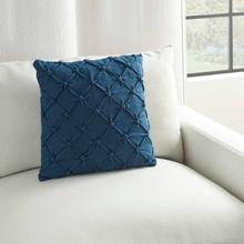 "Kathy Ireland Pillow Aa242 Navy 18"" X 18"" Throw Pillow"