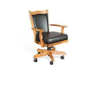 Sunny Designs - Sedona Game Chair w/ Casters, Cushion Seat & Back