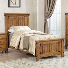 View Product - Brenner Rustic Honey Twin Bed