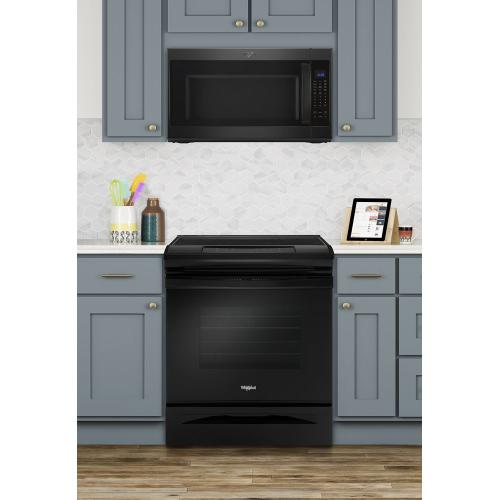 Gallery - 4.8 cu. ft. Guided Electric Front Control Range With The Easy-Wipe Ceramic Glass Cooktop