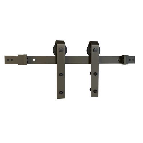 """Schlage - Sliding Barn Door Hardware - 6'6"""" J Strap - Dark Bronze"""