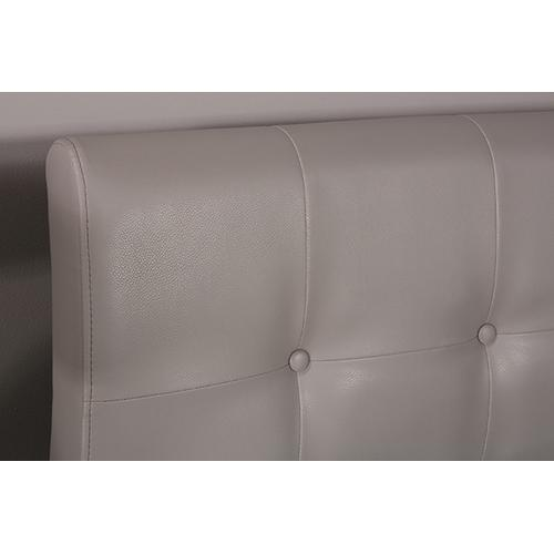 Gallery - Lusso Full Bed Set - Gray Faux Leather