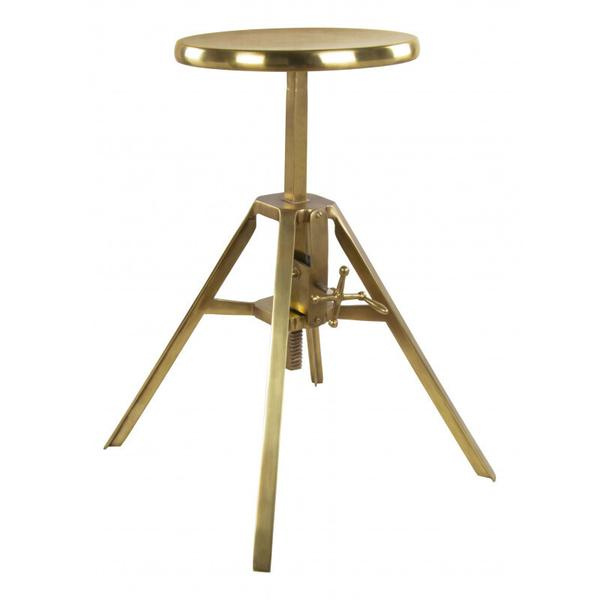 See Details - Mercy Stool Brass Antique