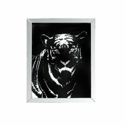 ACME Nevina Wall Art - 97319 - Mirrored & Crystal Tiger