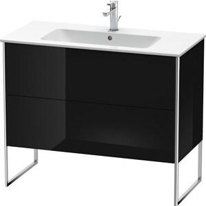 Vanity Unit Floorstanding, Black High Gloss (lacquer)